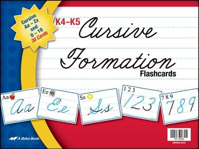 K4-K5 Cursive Formation Flashcards (26 cards)   -