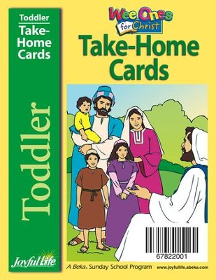 Toddler Take-Home Cards: Wee Ones for Christ   -