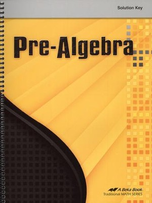 Pre-Algebra Solution Key    -
