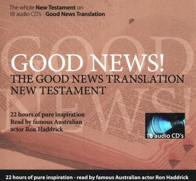 Good News Translation New Testament on Audio CD, Read By Ron Hedrick  -