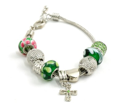 Charm Bracelet with Celtic Cross  -