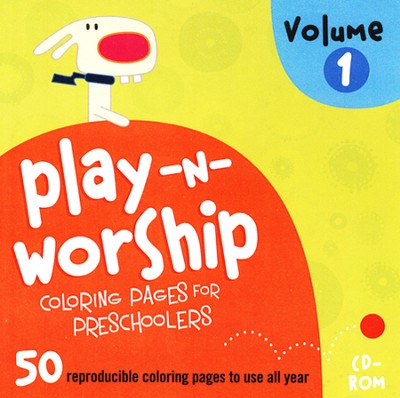 Play-n-Worship for Preschoolers Coloring Pages, Volume 1, CDROM  -