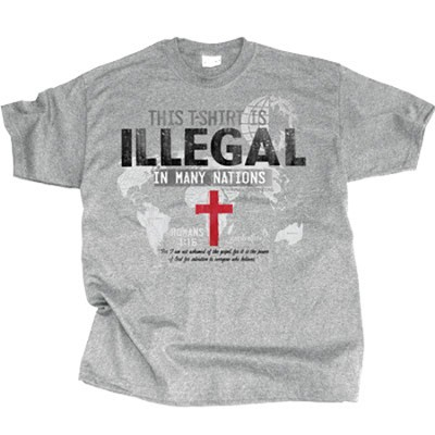 This T-Shirt Is Illegal In Many Nations Shirt, Gray, XX-Large  -