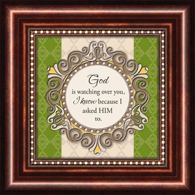 God Is Watching, Mini Framed Print  -
