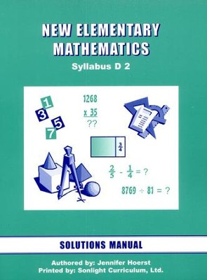 Singapore Math: New Elementary Math Solution Manual 2   -