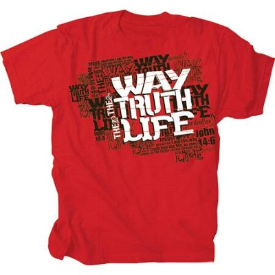 The Way, The Truth, The Life Shirt, Red, Large  -