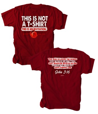 This Is Not A T-Shirt, This Is An Invitation Shirt, Red, Medium  -