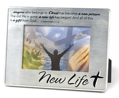 New Life Metal Photo Frame  -