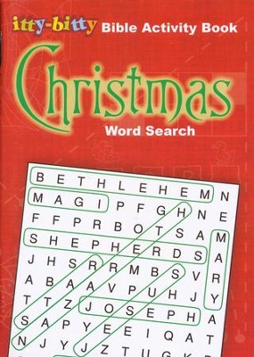 Christmas Word Search: Itty-Bitty Bible Activity Book--Ages 7 and up  -