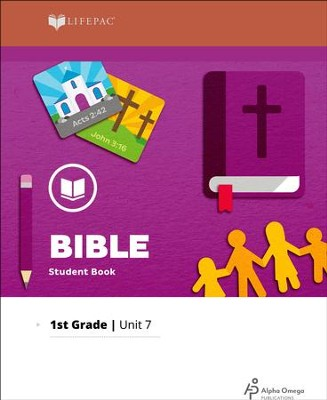Lifepac Bible Grade 1 Unit 7: Jesus, Our Savior   -