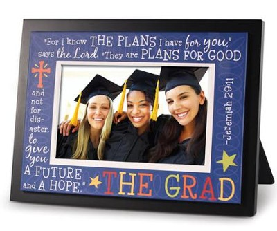 Graduate Multicolor Jeremiah 29:11 Photo Frame  -