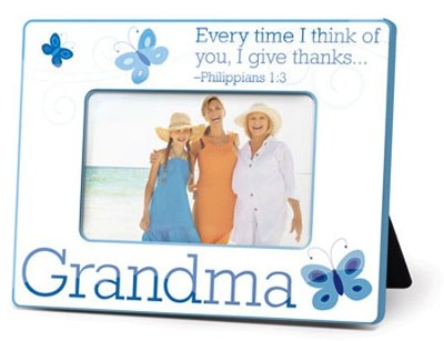 Grandma Photo Frame, Philippians 1:3  -