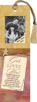 God Loves You! Photo Bookmark  -
