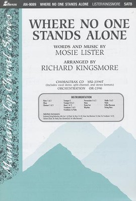 Where No One Stands Alone, Anthem  -     By: Mosie Lister, Richard Kingsmore