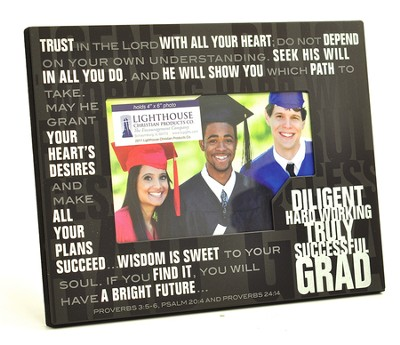 Graduate, Stacked Words Photo Frame  -