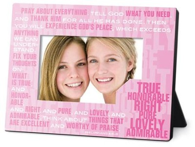 Phil 4:6-8 Stacked Photo Frame  -