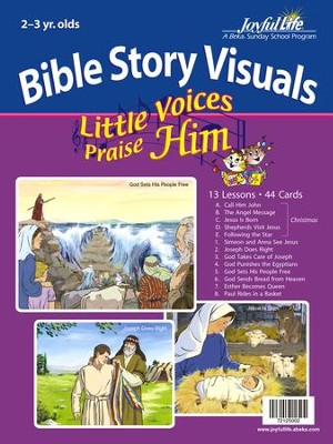 Little Voices Praise Him (ages 2 & 3) Bible Visuals    -