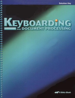 Keyboarding and Document Processing Solution Key   -