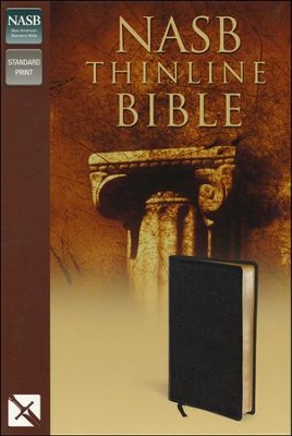 NAS Thinline Bible, Bonded leather, Black   -