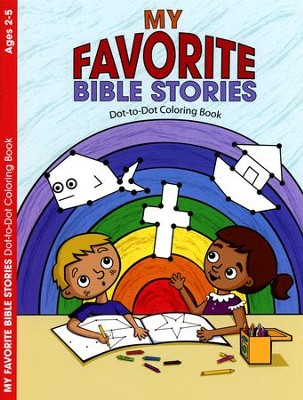 My Favorite Bible Stories, Dot-to-Dot Coloring Book   -