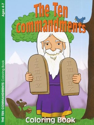 The Ten Commandments Coloring Book--Ages 4 to 7   -