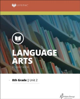 Lifepac Language Arts Grade 8 Unit 2: All About English   -