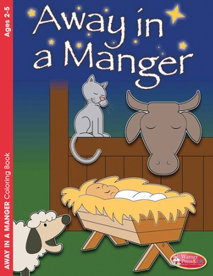 Away in a Manger Coloring Book (ages 2-5)  -