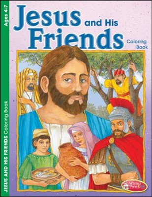 Jesus and His Friends Coloring Activity (4-7)  -