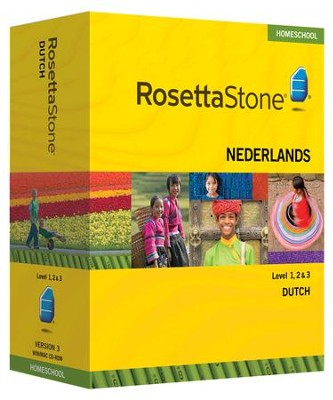 Rosetta Stone Dutch Levels 1,2 & 3 Set with Audio Companion Homeschool Edition, Version 3  -