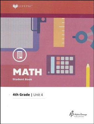 Lifepac Math Grade 4 Unit 4: Lines & Shapes, Multiplication w/Carrying  -