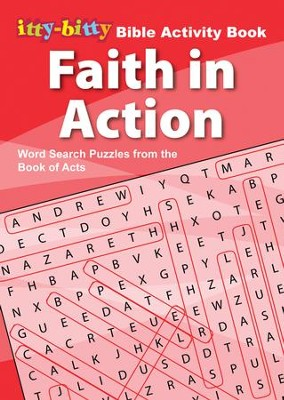 Faith In Action Word Search, itty-bitty Bible Activity Book  -