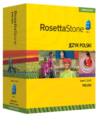 Rosetta Stone Polish Levels 1,2 & 3 Set with Audio Companion Homeschool Edition, Version 3  -