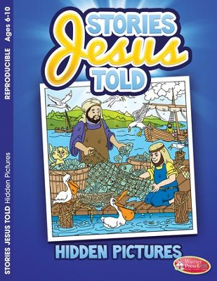 Stories Jesus Told, Hidden Pictures Activity Book (ages 6-10)  -