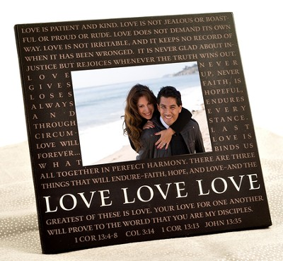 Love Metal Message Photo Frame   -