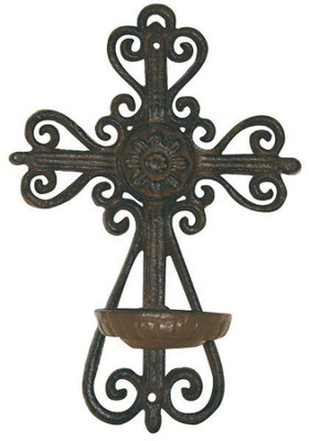 Wall Cross Candle Holder  -