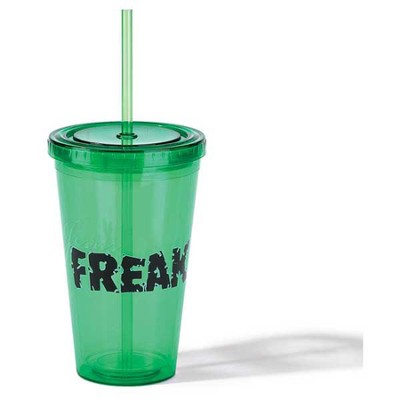 Jesus Freak Tumbler with Straw, Green  -