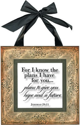 For I Know the Plans Framed Print  -