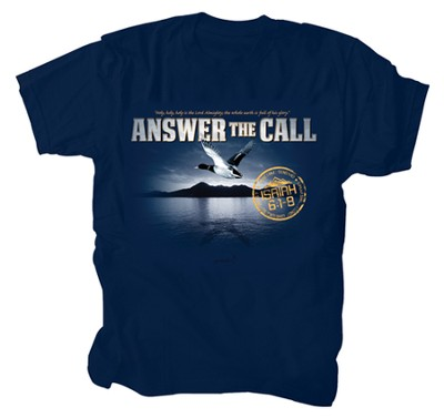 Anwer the Call Shirt, Navy, Large  -