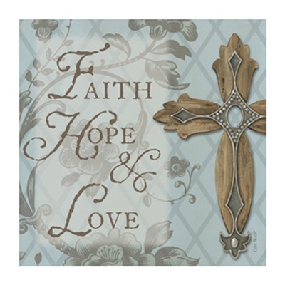 Faith, Hope, Love Trivet  -