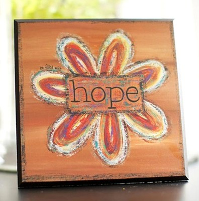 Flower Plaque, Hope  -