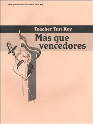 Mas que vencedores Spanish Year 2 Teacher Test Key   -