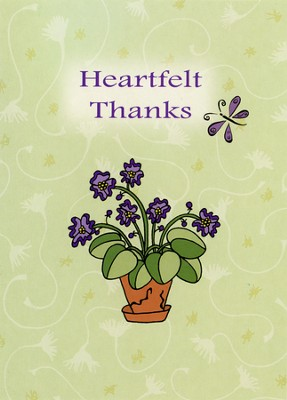 Heartfelt Flowers Thank You Cards, Box of 12  -