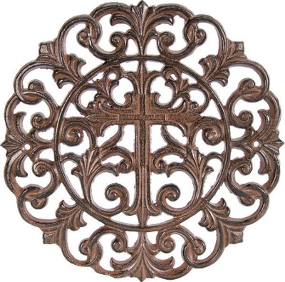 Iron Cross Wall Decor  -
