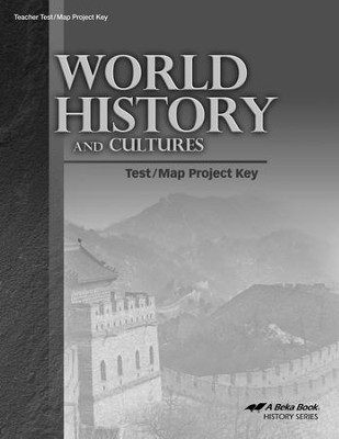 World History and Cultures Test/Map Project Key   -