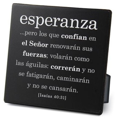 Esperanza (Hope) Plaque  -