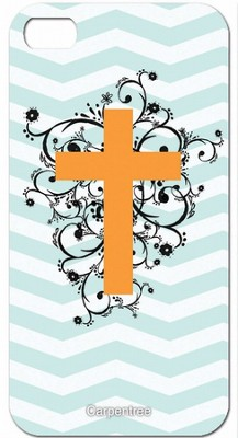 Cross on Chevron, iPhone 4/4S Case  -