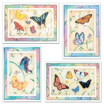 Butterfly Birthday for Her Cards, Box of 12  -