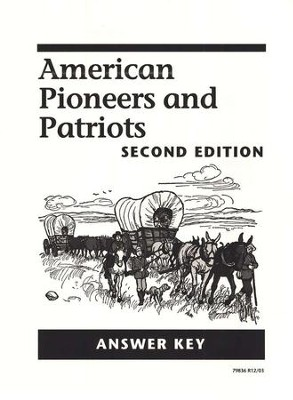 American Pioneers and Patriots Answer Key, 2nd Edition, Grade 3    -     By: Caroline D. Emerson