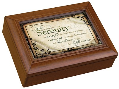 Serenity Prayer Music Box  -