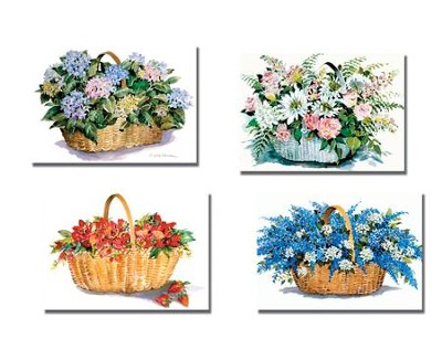 Flower Basket Thank You Cards, Box of 12  -